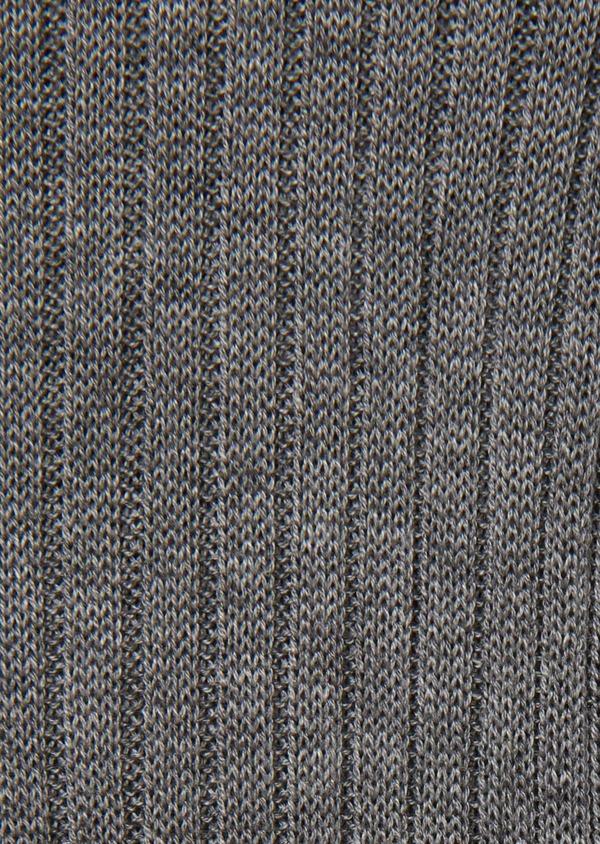 Chaussettes en coton fil d'Ecosse uni gris moyen - Father and Sons 18142