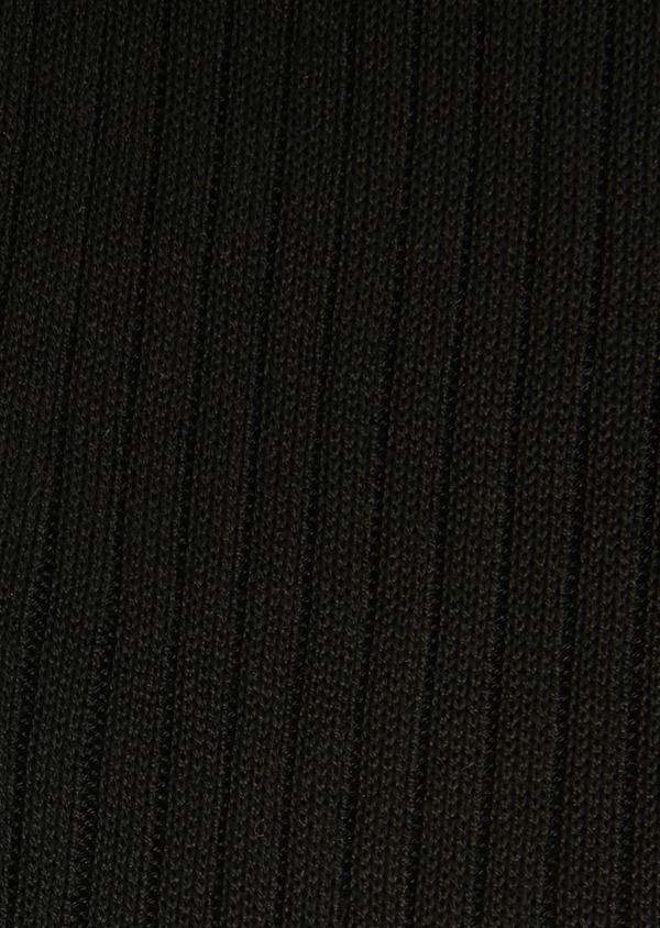Chaussettes en coton fil d'Ecosse uni noir - Father and Sons 18138