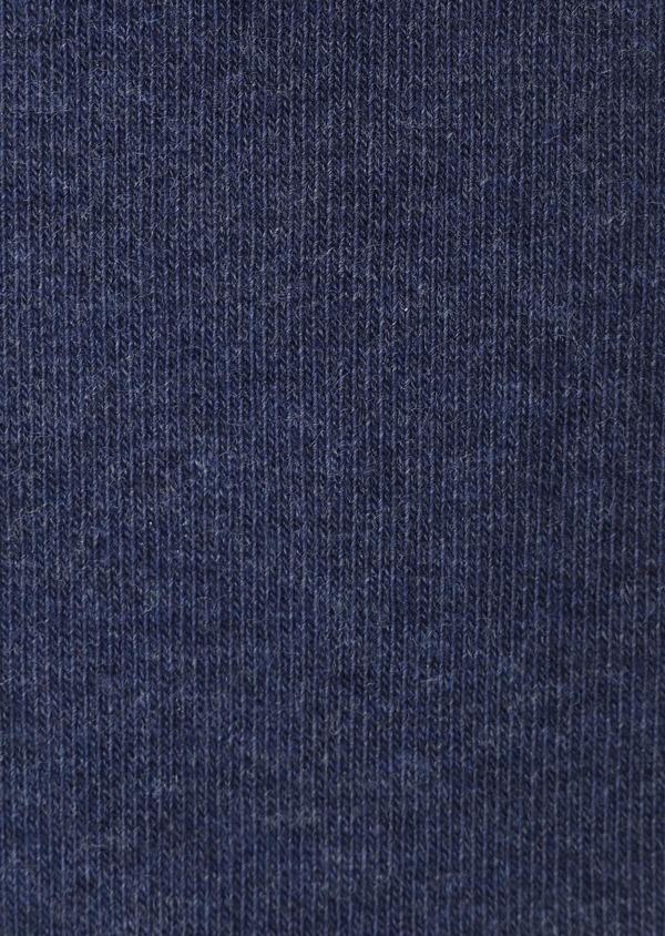 Chaussettes en coton mélangé bleu indigo à motif fantaisie bleu ciel et camel - Father and Sons 32149