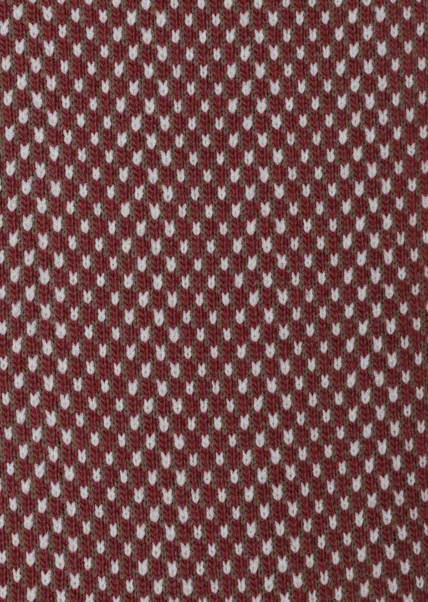 Chaussettes en coton mélangé rouge foncé à motifs géométriques marron et beige - Father and Sons 32163