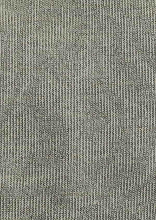 Chaussettes en coton mélangé uni vert kaki clair - Father and Sons 40554