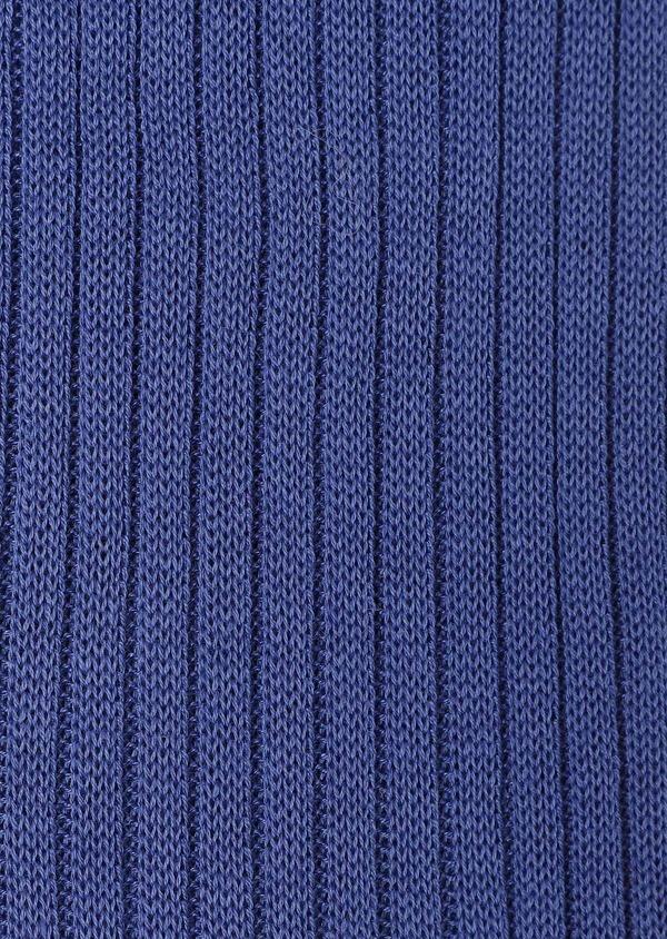 Chaussettes en coton fil d'Ecosse uni bleu - Father and Sons 32203