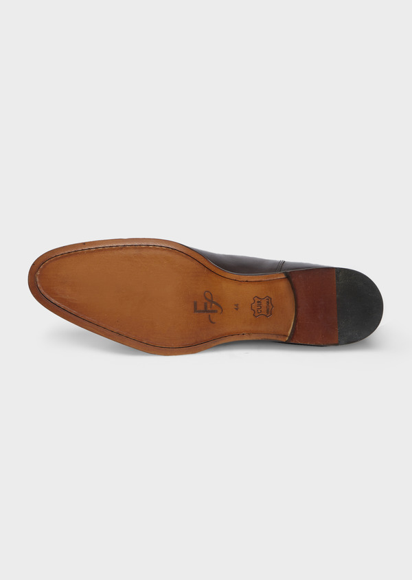 Bottines Chelsea en cuir lisse marron - Father and Sons 41717