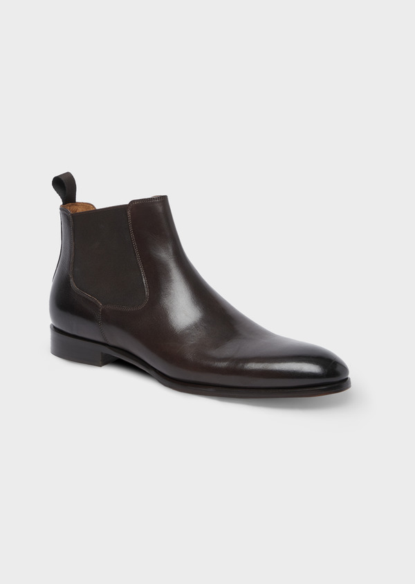 Bottines Chelsea en cuir lisse marron - Father and Sons 41715