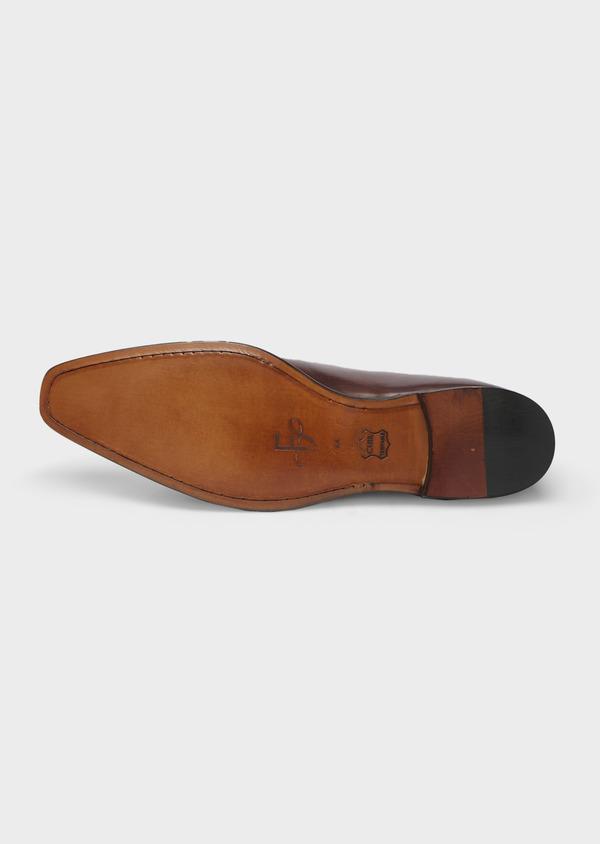 Richelieus en cuir lisse noir à bouts perforés - Father and Sons 41714