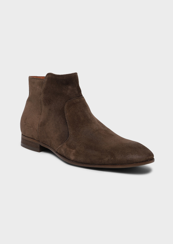 Boots en cuir nubuck taupe - Father and Sons 34873