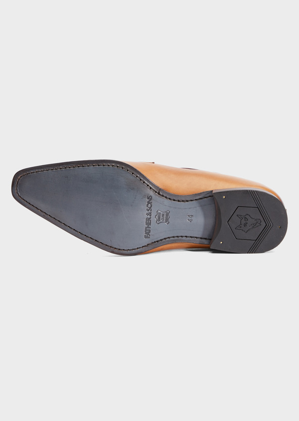 Derbies en cuir lisse caramel - Father and Sons 39357