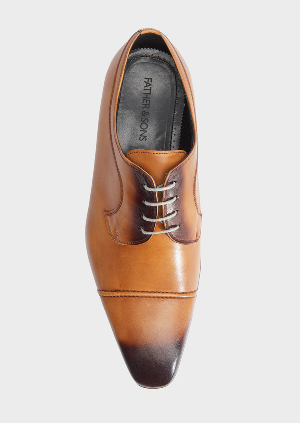 Derbies en cuir lisse caramel - Father and Sons 39356