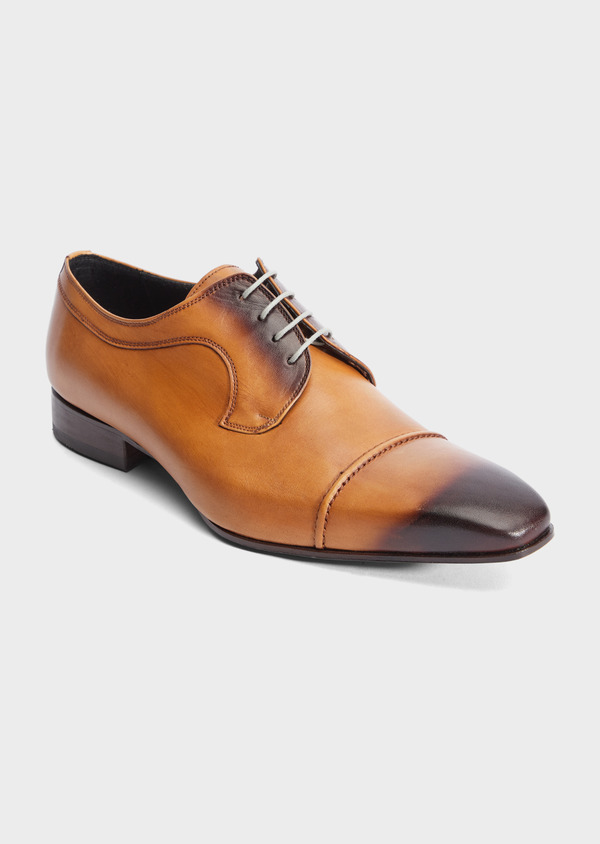 Derbies en cuir lisse caramel - Father and Sons 39355