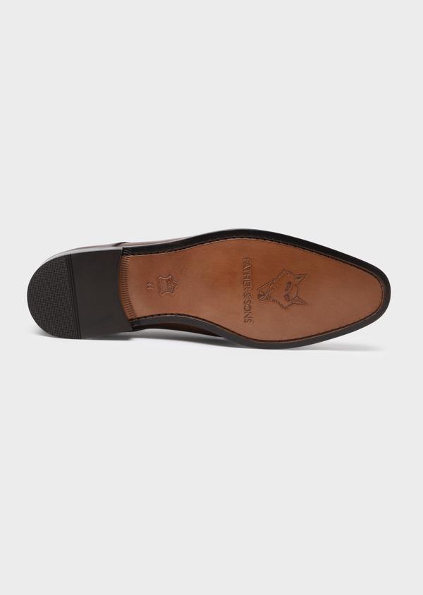 Richelieus en cuir lisse cognac - Father and Sons 34842