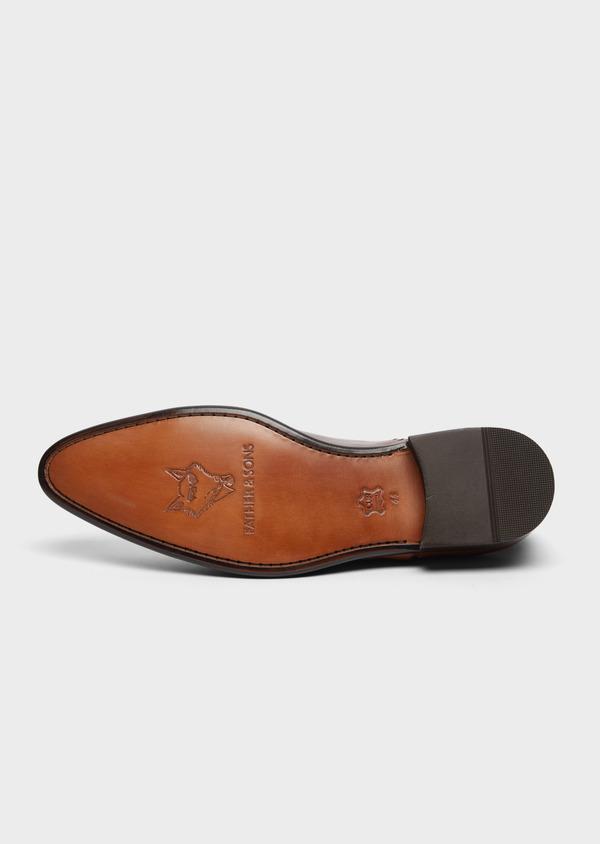 Richelieus en cuir lisse cognac - Father and Sons 38477
