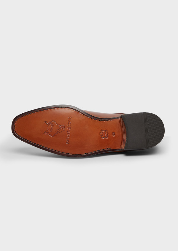 Derbies en cuir lisse camel - Father and Sons 38465