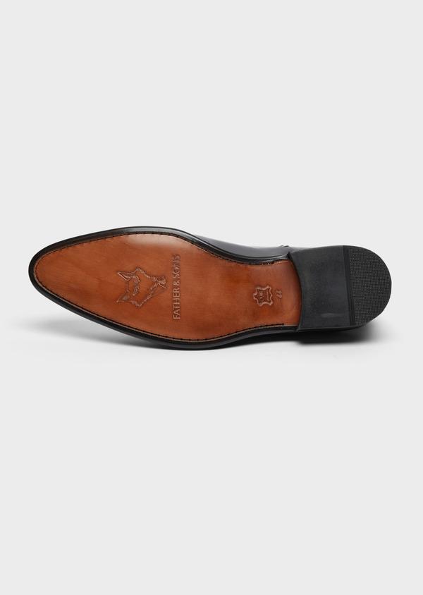 Richelieus en cuir lisse noir - Father and Sons 38474
