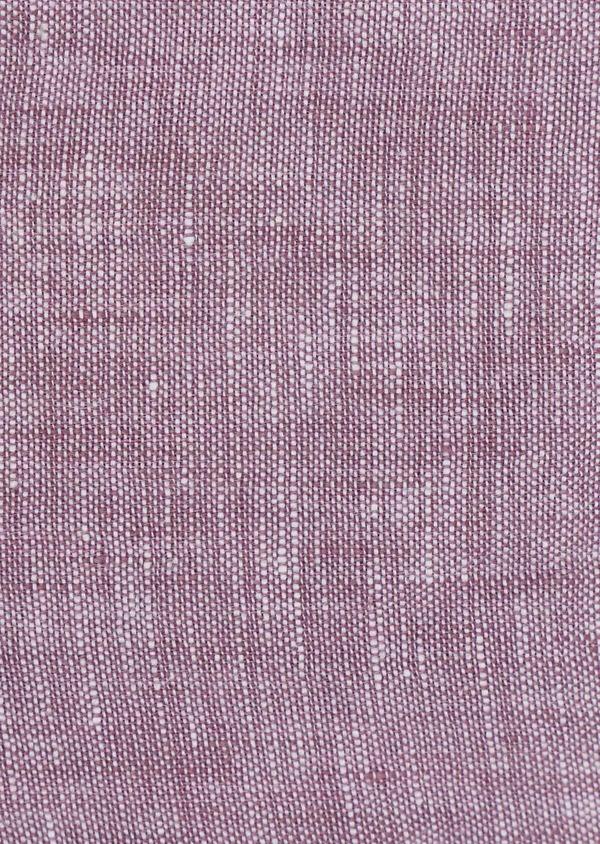 Chemise sport Slim en lin uni violet - Father and Sons 32507