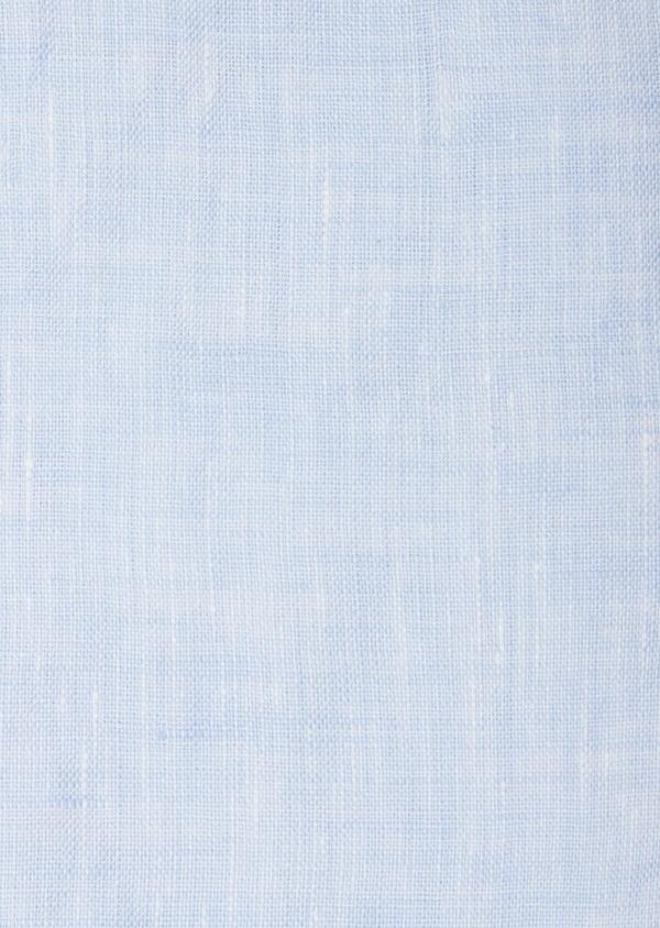 Chemise sport Slim en lin uni bleu ciel - Father and Sons 40153