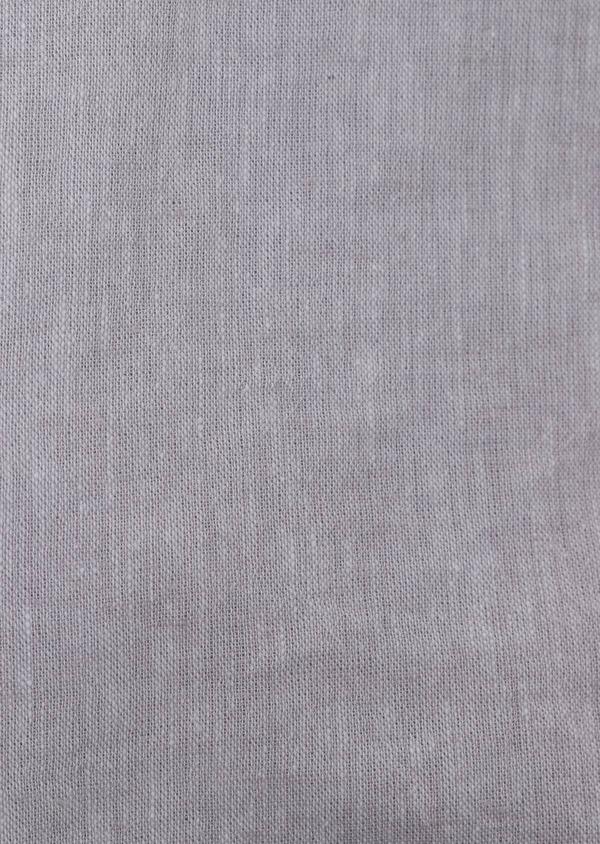 Chemise sport Slim en lin uni gris - Father and Sons 34437