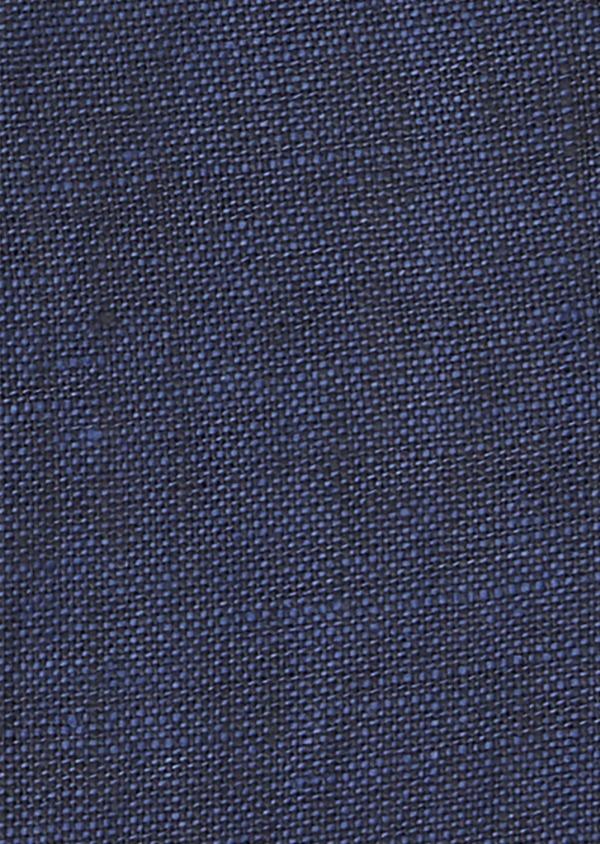 Chemise sport Slim en lin uni bleu indigo - Father and Sons 41871