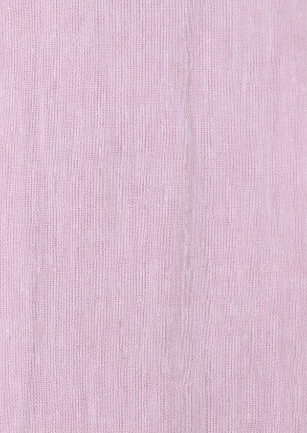 Chemise sport Slim en lin uni rose pâle - Father and Sons 34432