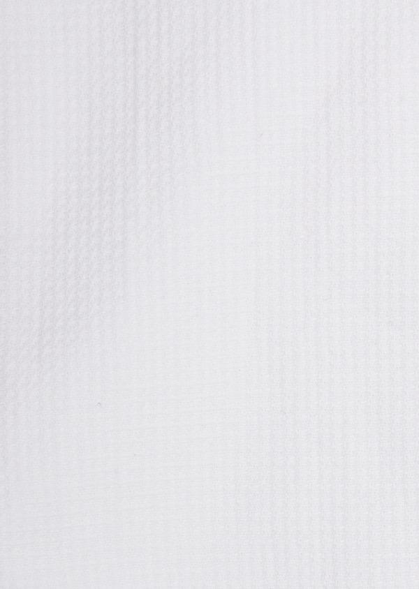 Chemise manches courtes Slim en coton façonné uni blanc - Father and Sons 40120