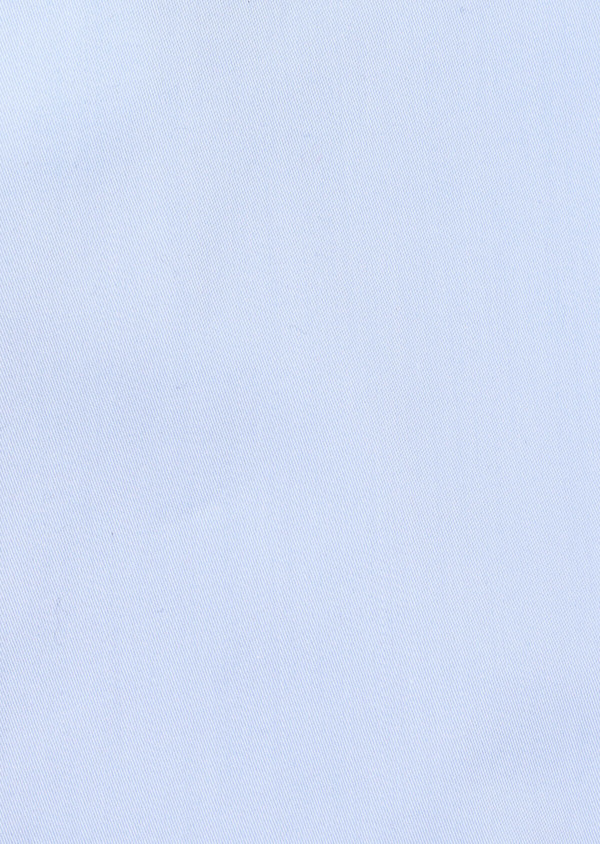 Chemise manches courtes Regular en satin de coton uni bleu ciel - Father and Sons 34106