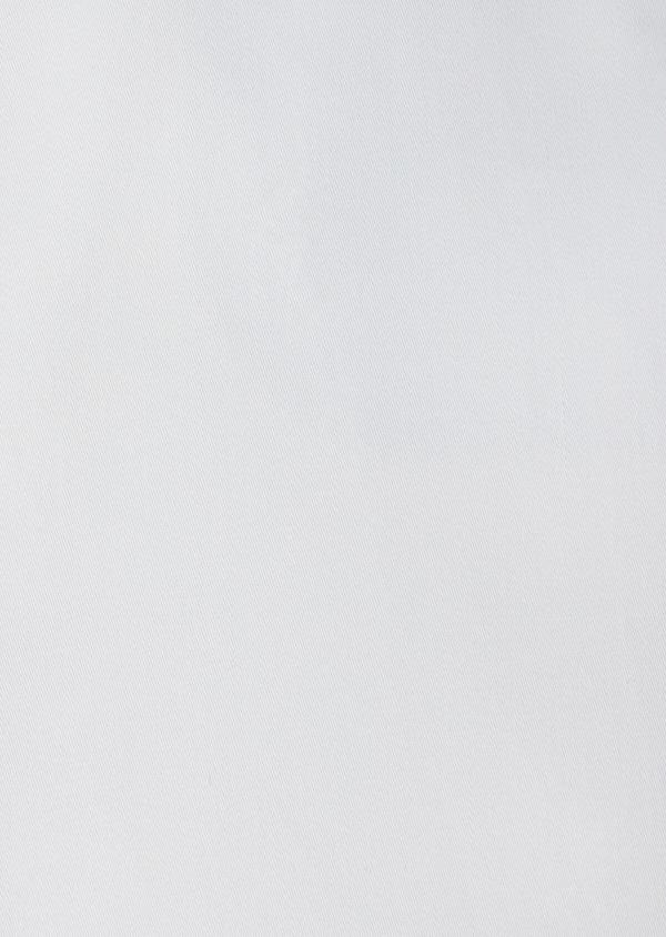 Chemise manches courtes Slim en satin de coton uni blanc - Father and Sons 40455