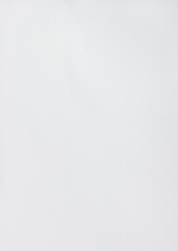 Chemise manches courtes Slim en satin de coton uni blanc - Father and Sons 40459