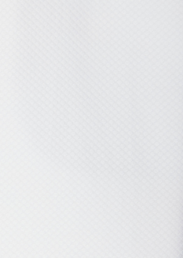 Chemise manches courtes Regular en façonné de coton uni blanc - Father and Sons 40463