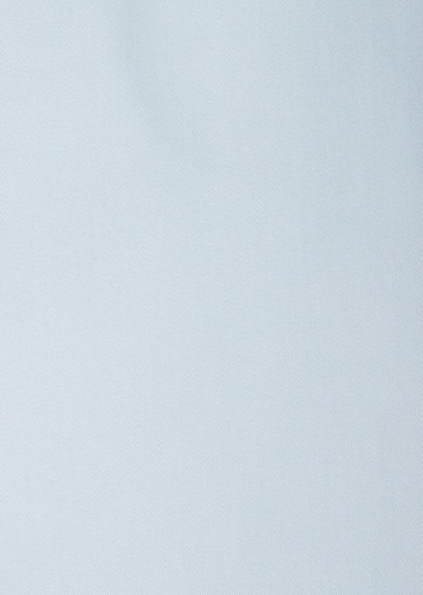 Chemise manches courtes Slim en satin de coton uni bleu ciel - Father and Sons 40467