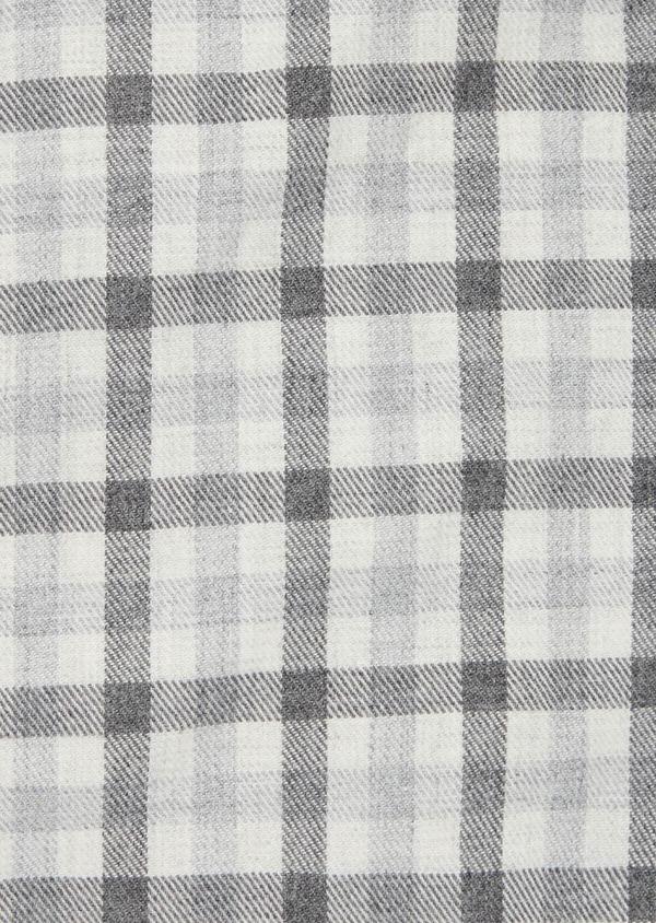 Chemise sport Slim en coton gris à carreaux - Father and Sons 40892