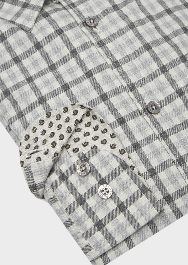 Chemise sport Slim en coton gris à carreaux - Father and Sons 40894