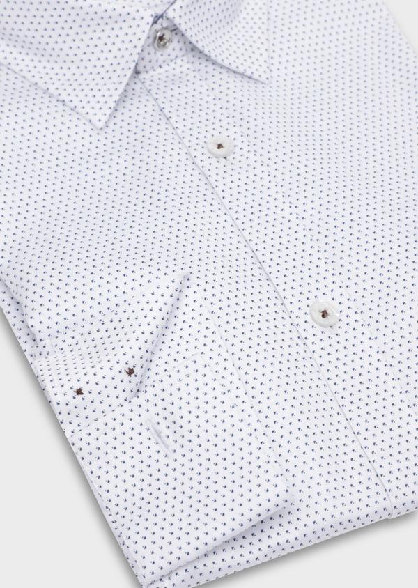 Chemise sport Regular en twill de coton blanc à motif fantaisie - Father and Sons 35635