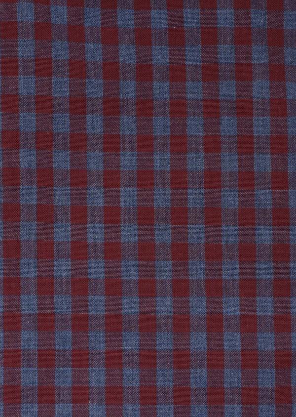 Chemise sport Slim en popeline de coton bleu indigo à carreaux - Father and Sons 35748