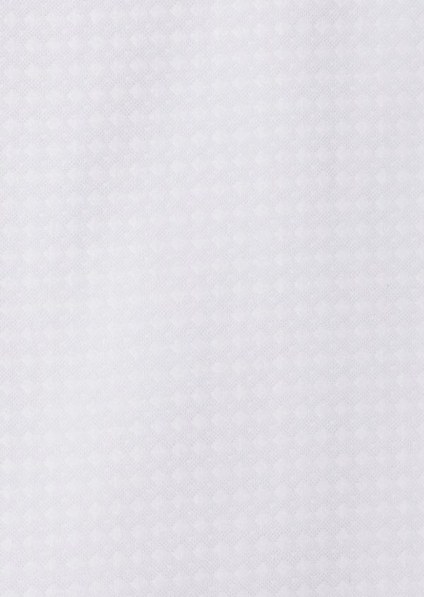 Chemise sport Slim en coton façonné blanc à motif fantaisie - Father and Sons 35797