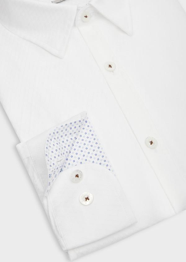 Chemise sport Slim en coton façonné blanc - Father and Sons 38615