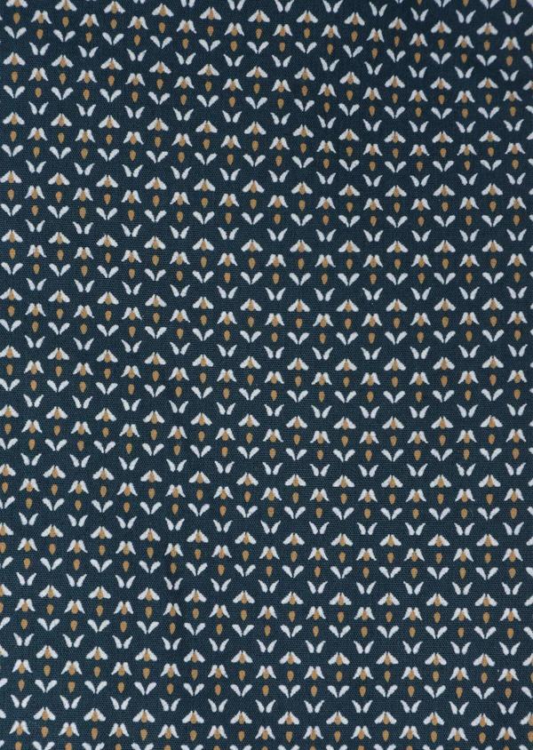 Chemise sport Slim en popeline de coton bleu à motif fantaisie - Father and Sons 35649