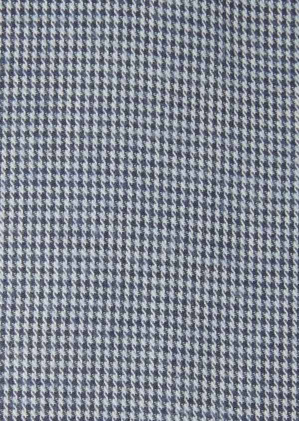 Chemise sport Slim en popeline de coton bleu à motif fantaisie - Father and Sons 36576
