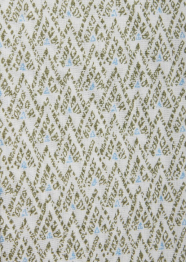 Chemise sport Slim en popeline de coton blanc à motifs géométriques - Father and Sons 38609