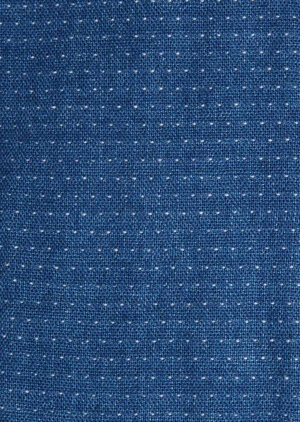 Chemise sport Slim en coton bleu indigo à pois - Father and Sons 40136