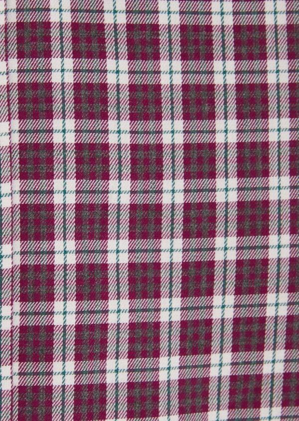 Chemise sport Slim en twill de coton rose à motif Prince-de-Galles - Father and Sons 36299