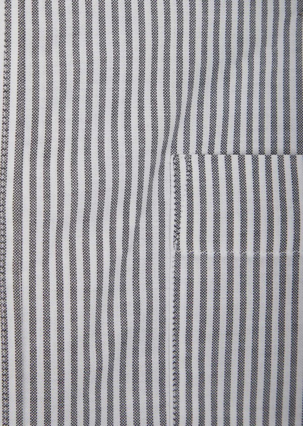 Chemise sport Slim en coton blanc à rayures grises - Father and Sons 38625