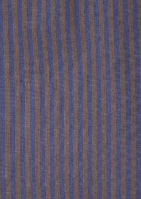 Chemise sport Slim en popeline de coton rayé marron - Father and Sons 36295
