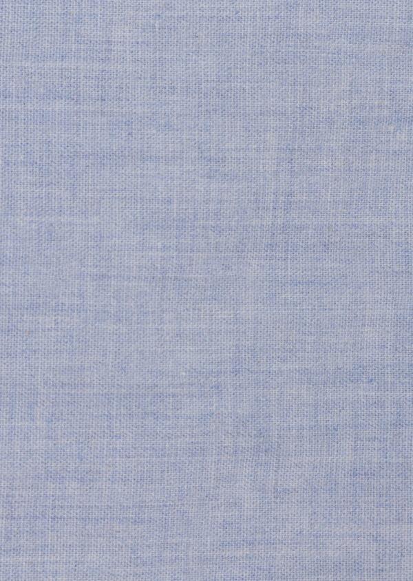 Chemise sport Slim en popeline de coton bleu ciel uni - Father and Sons 35621