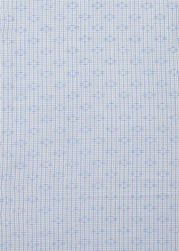 Chemise habillée Regular en coton Jacquard blanc à motif fantaisie bleu - Father and Sons 40848