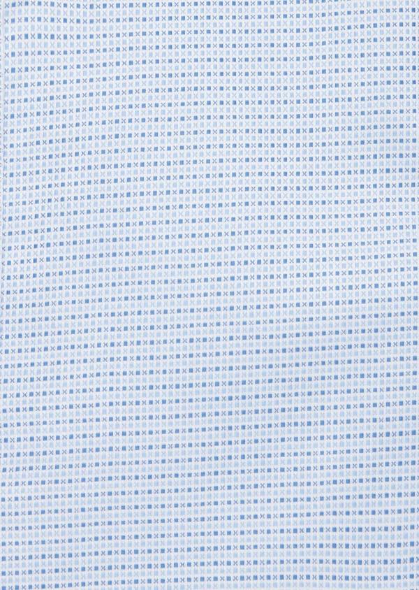 Chemise habillée Slim en coton Jacquard blanc à motif fantaisie bleu - Father and Sons 40800