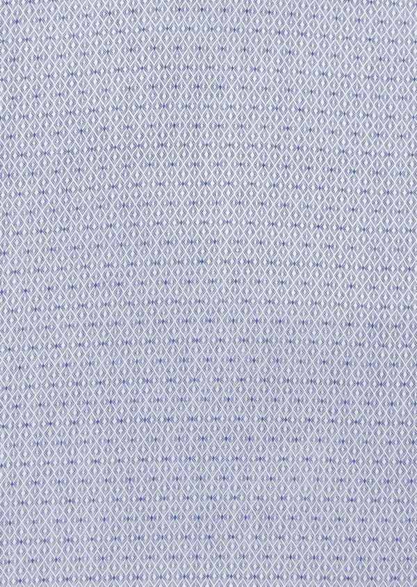 Chemise habillée Slim en coton façonné bleu à motif fantaisie - Father and Sons 40804