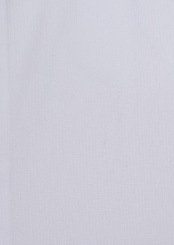 Chemise habillée Slim en coton façonné blanc à motif fantaisie ton sur ton - Father and Sons 34941