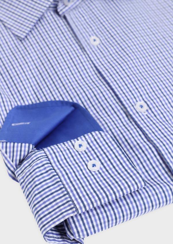 Chemise habillée Regular en popeline de coton à carreaux bleus et blancs - Father and Sons 34899