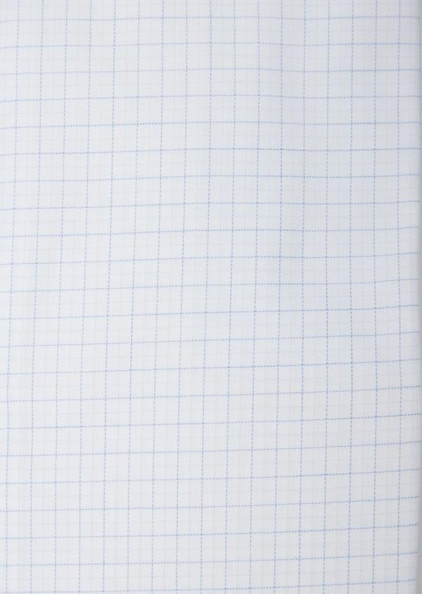 Chemise habillée Regular en coton façonné bleu ciel à motifs géométriques blancs - Father and Sons 36685