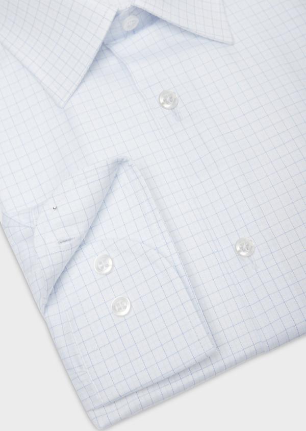 Chemise habillée Regular en coton façonné bleu ciel à motifs géométriques blancs - Father and Sons 36687