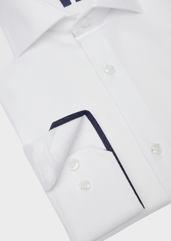 Chemise habillée Regular en coton façonné uni blanc - Father and Sons 38358